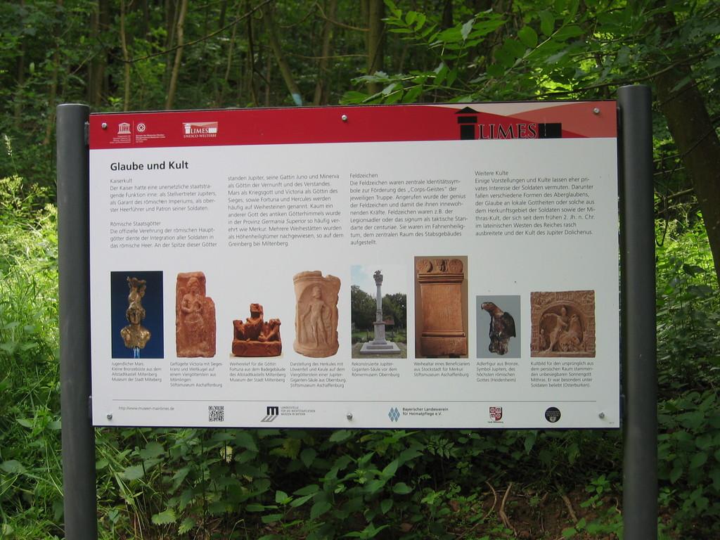 Informationen am Limeswanderweg (Lesen, Lernen und Wandern)