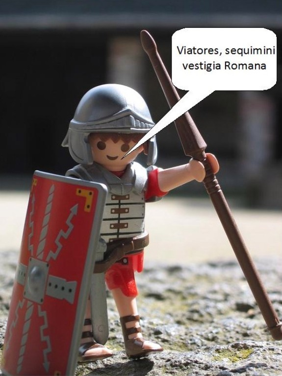"""Wanderer, folgt den römischen Spuren"""