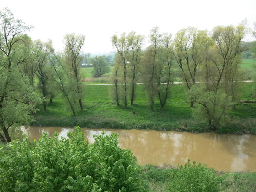 An der schöne blauen Donau? Nein. An der braunen Abens unterhalb des Kastells Abusina