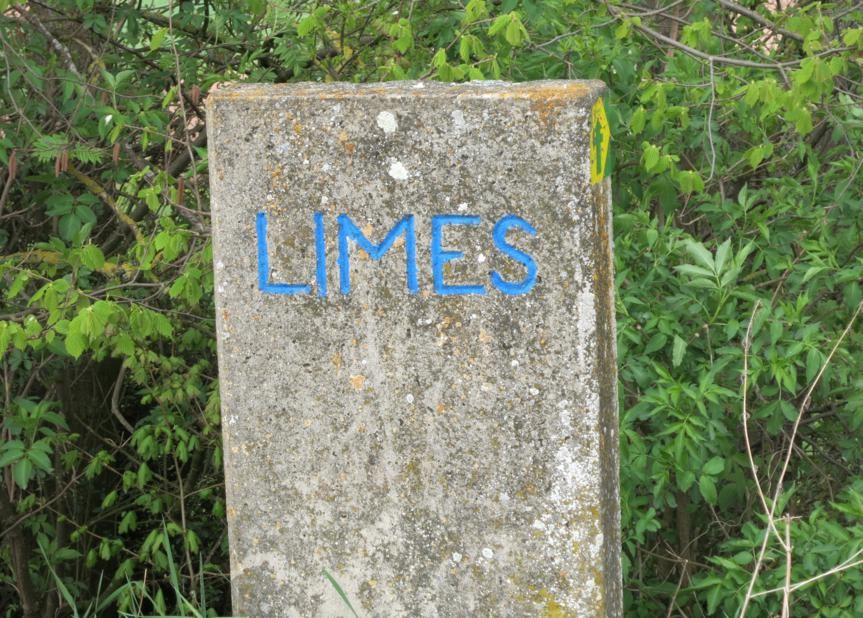 in Bayern ist der Limes blau