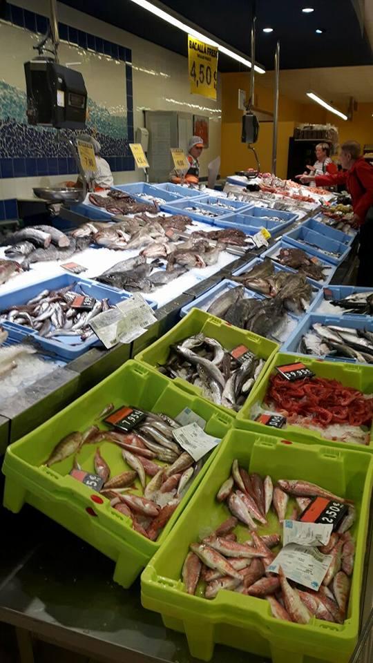 so eine riesige Fischtheke - wie toll