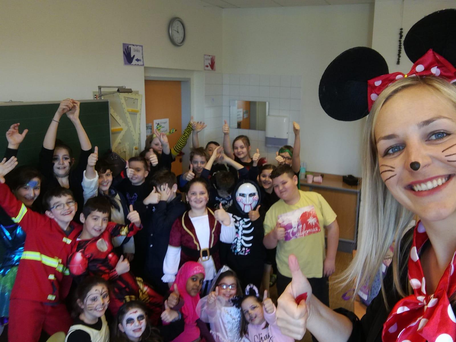 Auch in den einzelnen Klassen wurde Fasching gefeiert!