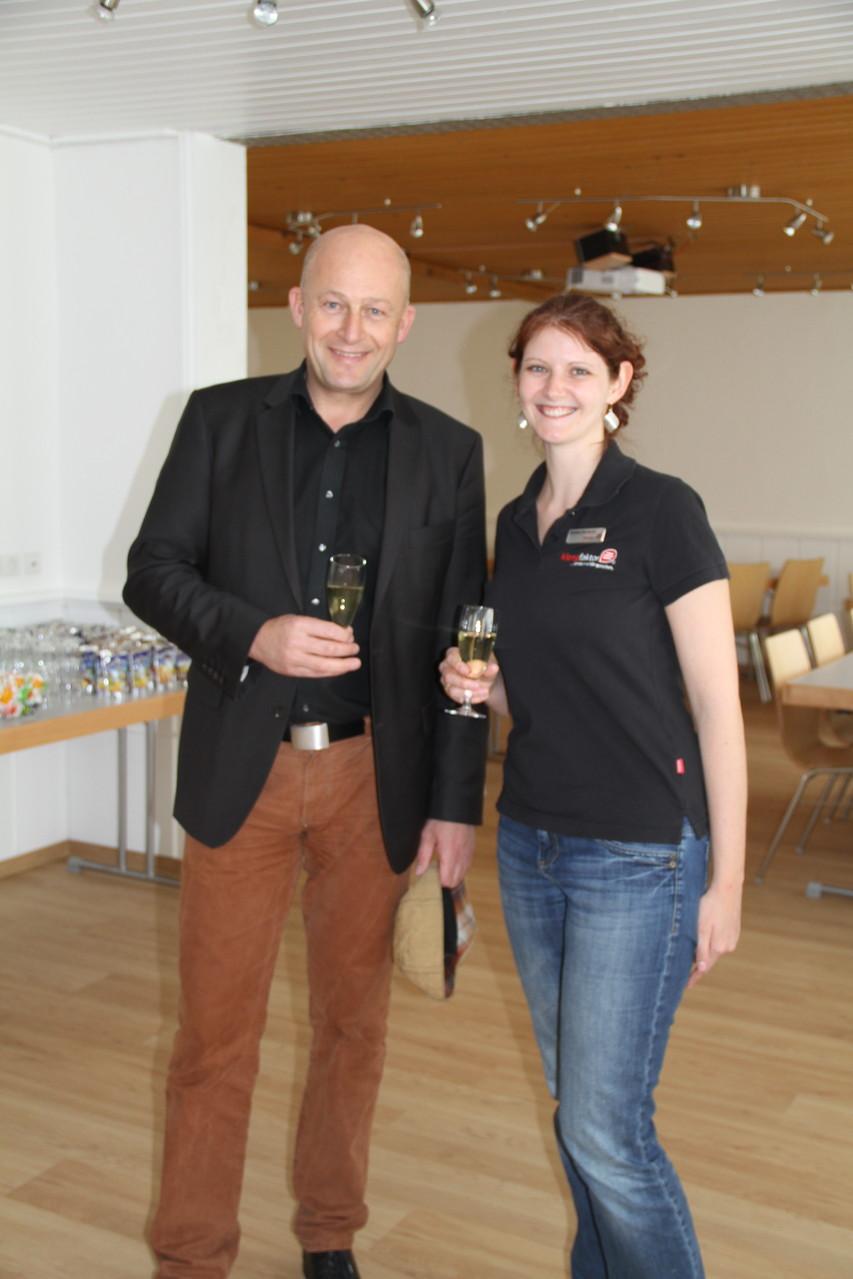 Anstoßen mit dem Bürgermeister, Herrn Claus Schwarzmann