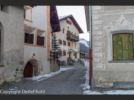 Fotodokumentation Eine Reise ins Engadin ‒ Guarda ‒ Das schönste Dorf der Schweiz