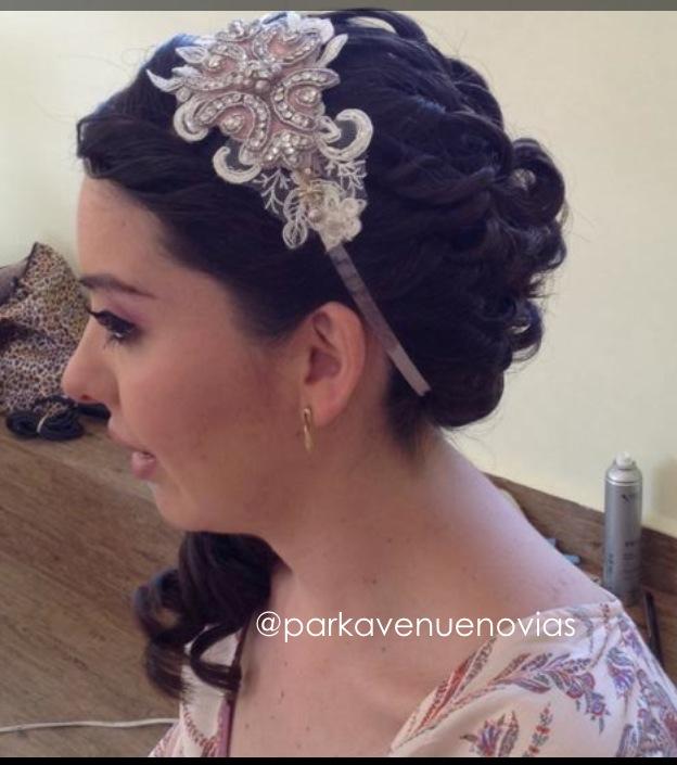peinado estilo cascada para boda en cuerna