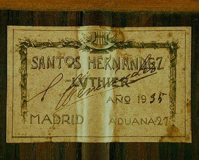 Santos Hernandez 1935 - Guitar 1 - Photo 4