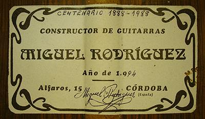 Miguel Rodriguez 1994 - Pepe Romero - Guitar 1 - Photo 5