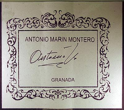 Antonio Marin Montero 2005 - Guitar 2 - Photo 1