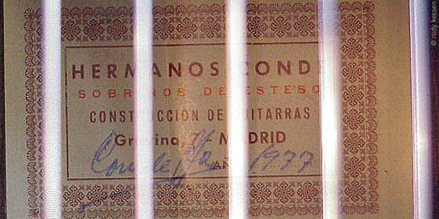 HERMANOS CONDE - SOBRINOS DE ESTESO 1977 - LABEL - ETIKETT - ETIQUETA