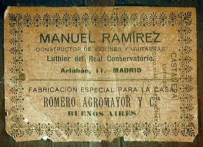Manuel Ramirez 1910 - Guitar 2 - Photo 1