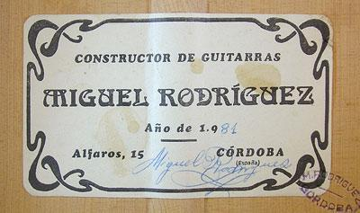 Miguel Rodriguez 1981 - Guitar 1 - Photo 3