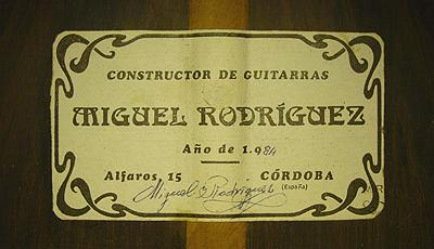 Miguel Rodriguez 1984 - Angel Romero - Guitar 1 - Photo 4