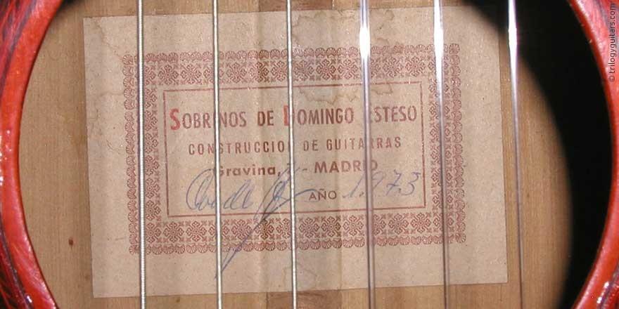 HERMANOS CONDE - SOBRINOS DE ESTESO 1973 - LABEL - ETIKETT - ETIQUETA