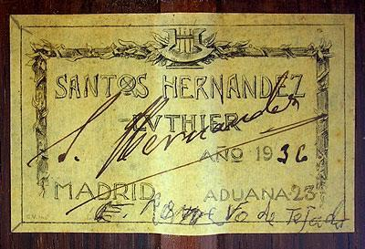 Santos Hernandez 1936 - Guitar 1 - Photo 2