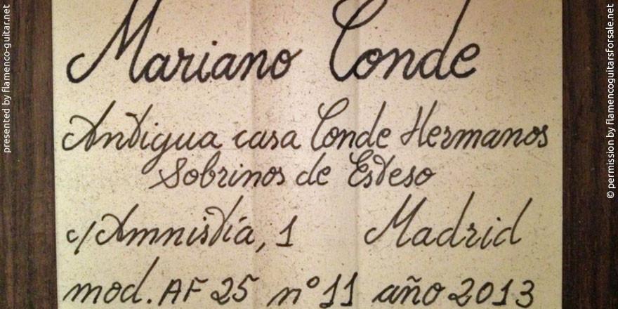 HERMANOS CONDE - MARIANO CONDE 2013 #3 - LABEL - ETIKETT - ETIQUETA