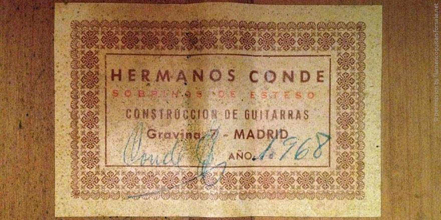 HERMANOS CONDE - SOBRINOS DE ESTESO 1968 - LABEL - ETIKETT - ETIQUETA