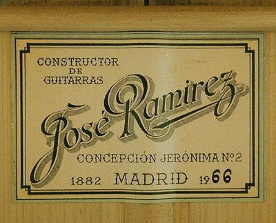 Jose Ramirez 1966 - Guitar 1 - Photo 3