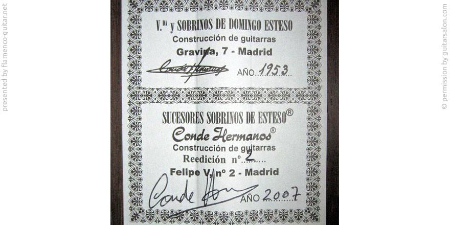 HERMANOS CONDE - SOBRINOS DE ESTESO 2007 - LABEL - ETIKETT - ETIQUETA