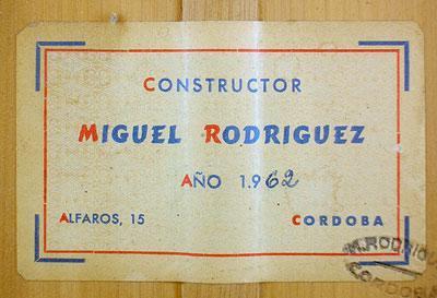 Miguel Rodriguez 1962 - Guitar 2 - Photo 5