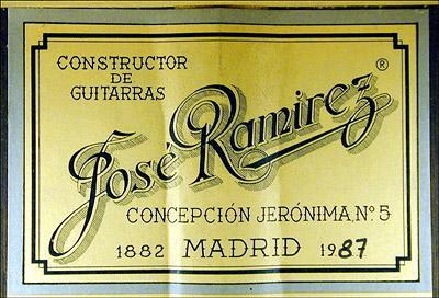 Jose Ramirez 1987 - Guitar 2 - Photo 3