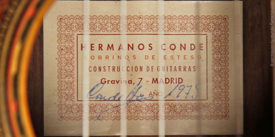 HERMANOS CONDE - SOBRINOS DE ESTESO 1975 - LABEL - ETIKETT - ETIQUETA