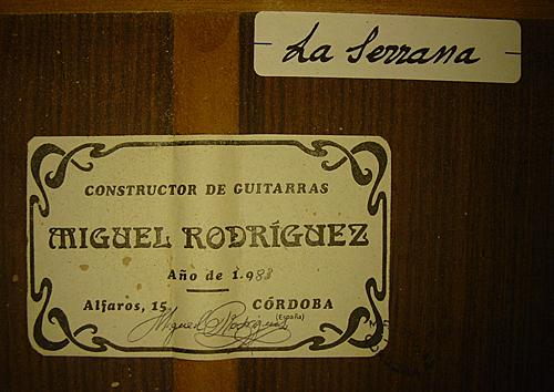 Miguel Rodriguez 1983 - Guitar 1 - Photo 4