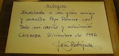 Miguel Rodriguez 1994 - Pepe Romero - Guitar 1 - Photo 4
