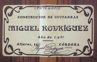 Miguel Rodriguez 1990 - Guitar 1 - Photo 3