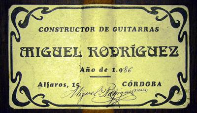 Miguel Rodriguez 1986 - Guitar 3 - Photo 5
