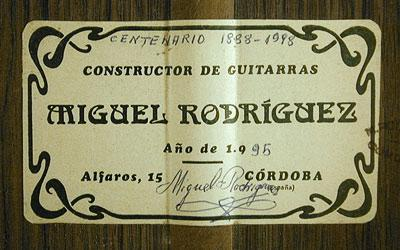 Miguel Rodriguez 1995 - Guitar 2 - Photo 2