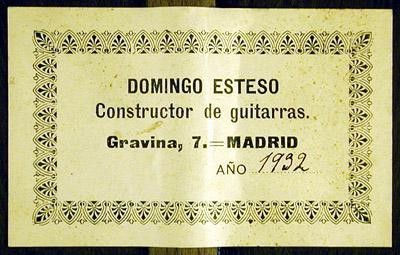 Domingo Esteso 1932 - Guitar 1 - Photo 2