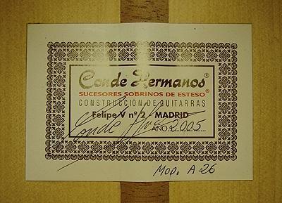Hermanos Conde 2005 - Guitar 3 - Photo 5