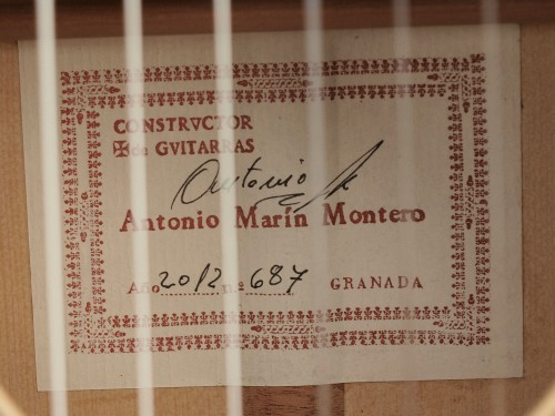 Antonio Marin Montero 2012 - Guitar 3 - Photo 4