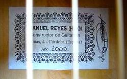 Manuel Reyes Hijo 2000 - Guitar 2 - Photo 9