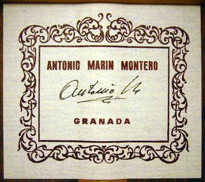 Antonio Marin Montero 2002 - Guitar 1 - Photo 1