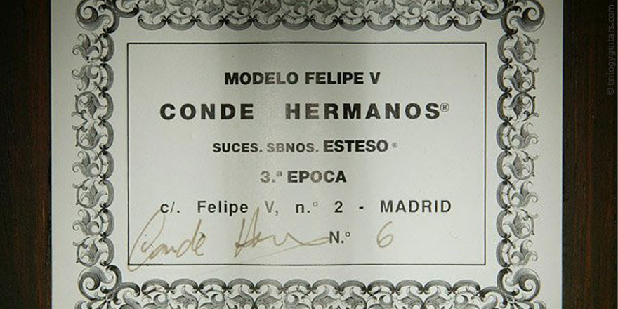 HERMANOS CONDE - SOBRINOS DE ESTESO 1996 #2 - LABEL - ETIKETT - ETIQUETA