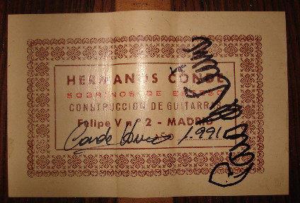 Hermanos Conde - Sobrinos de Esteso - 1991 - Guitar 1 - Photo 6