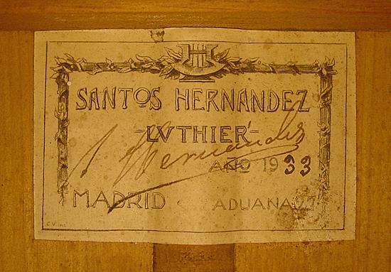Santos Hernandez 1933 - Guitar 1 - Photo 4