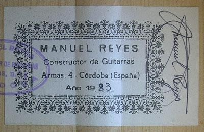 Manuel Reyes 1983 - Guitar 1 - Photo 5