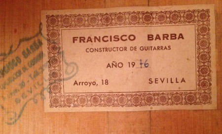 Francisco Barba 1976 - Guitar 1 - Photo 6