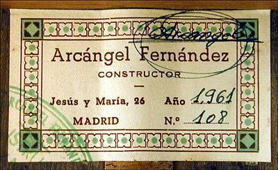 Arcangel Fernandez 1961 - Guitar 2 - Photo 5