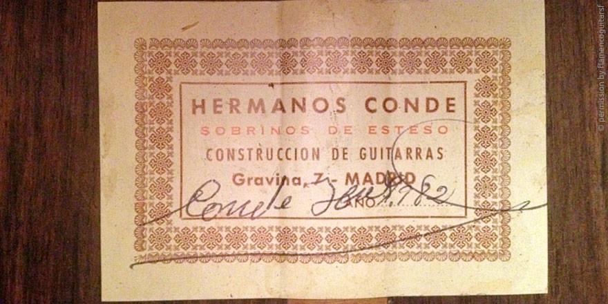HERMANOS CONDE - SOBRINOS DE ESTESO 1982 - LABEL - ETIKETT - ETIQUETA