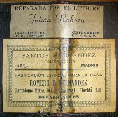 Santos Hernandez 1921 - Guitar 2 - Photo 3