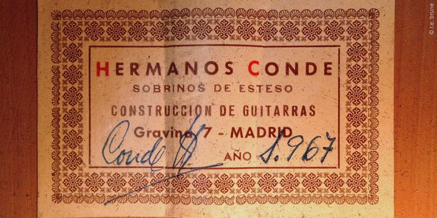 HERMANOS CONDE - SOBRINOS DE ESTESO 1967 - LABEL - ETIKETT - ETIQUETA