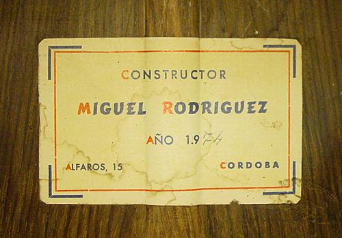 Miguel Rodriguez 1974 - Guitar 1 - Photo 5