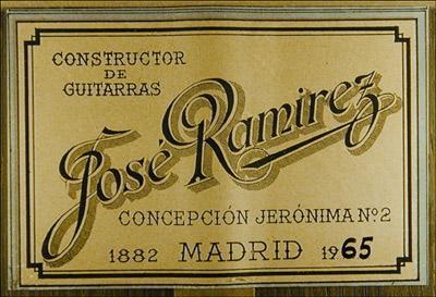 Jose Ramirez 1965 - Guitar 1 - Photo 1