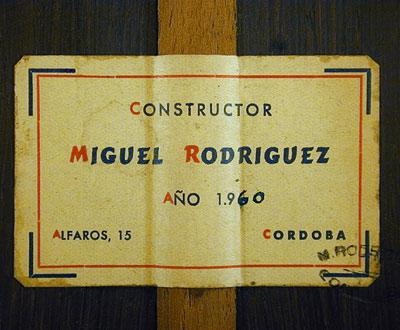 Miguel Rodriguez 1960 - Guitar 1 - Photo 5