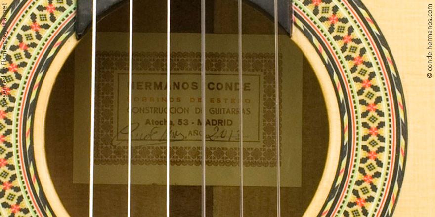 HERMANOS CONDE - SOBRINOS DE ESTESO 2013 - LABEL - ETIKETT - ETIQUETA