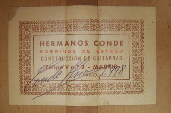 Hermanos Conde - Sobrinos de Esteso - 1998 - Guitar 2 - Photo 1
