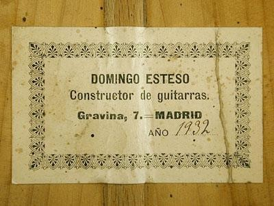 Domingo Esteso 1932 - Guitar 2 - Photo 4